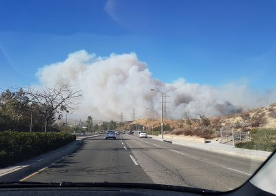 View of the Rye Fire Rye Canyon